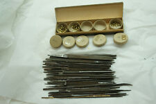 VINTAGE WATCH REPAIR TOOLS LOT FILES DIAL WASHERS WATCHMAKER CLOCKMAKER JEWELERS