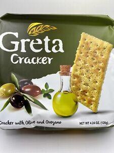 Wheat Olive & Oregano GRETA Crackers Snacks Product of Turkey 4oz 120 Calories