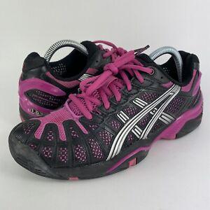 Asics Gel-Resolution 3 Black/Purple Athletic Tennis Shoes E150N Women's Size 8.5