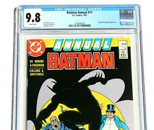 CGC 9.8 BATMAN ANNUAL #11 * Alan Moore story * John Byrne cover * White Pages