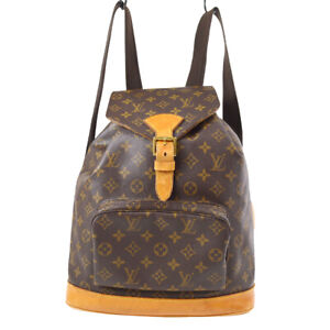 LOUIS VUITTON MONTSOURIS GM BACKPACK PURSE MONOGRAM M51135 ik 91093