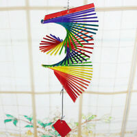 Spiral Windmill Colorful Wind Spinner Lawn Garden Yard Outdoor Decor Size S