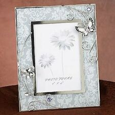 Purple Butterfly w/ Floral Design Picture Frame Collectible