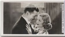 Clark Gable and Constance Bennett  Movie Star  Film Actors 1930s Trade Ad Card