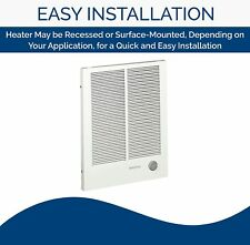 Broan-Nutone 198 High Capacity Wall Heater, White Painted Grille, 4000/2000 Watt