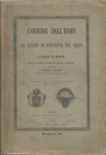 Darwin - L'Origine dell'Uomo - UTE Torino III Edz. 1888 - Lessona