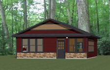 28x32 House -- 2 Bedroom 1 Bath -- 896 sq ft -- PDF Floor Plan -- Model 3L