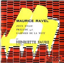 HENRIETTE FAURE-HENRIETTE FAURE PLAYS MAURICE RAVEL-JAPAN CD  D73