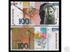 SLOVENIA 100 TOLAR P31 2003 EURO GRAPHIC DESIGN UNC ARTIST JAKOPIC CURRENCY NOTE