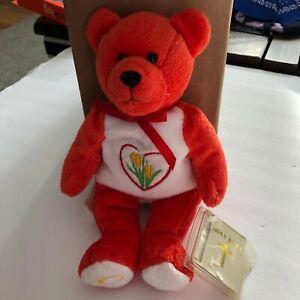 Holy Bears The Love Bear Orange Beanie with Hang Tag 2000