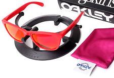 Oakley B1B Red Frogskins Sunglasses Custom Positive Purple Red Polarized Lenses