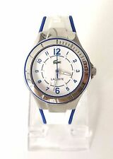 Lacoste Damen Uhr weiß blau silber Silikon 2000799