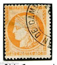 Cérès N°38 oblitéré cachet espagnol variété sans filet en bas et à droite
