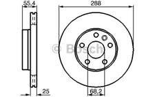 1x BOSCH Disco de freno delantero Ventilado 288mm 0 986 479 B57