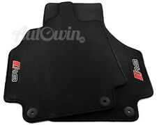 Black Floor Mats for Audi R8 2008-2014 with R8 Logo, Clips LHD Side EU Model NEW