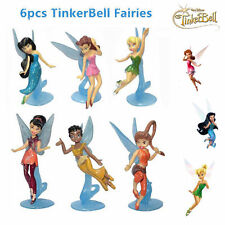 6 x SECRET OF THE WINGS DISNEY TINKERBELL FAIRIES ACTION FIGURES CAKE TOPPER TOY