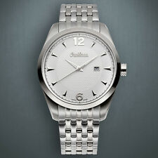 NEW Omikron 1258M Men's Swiss Made Paladin white face  Steel Watch no box