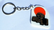 SIKH Punjabi Singh ORANGE DUMALA BEARD GUY with GUN KEY RING Key Chain GIFT