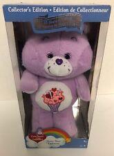 "Care Bears SHARE BEAR 13"" Plush Just Play 2017 NEW Milkshake Purple 35 Years"