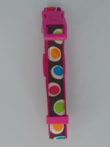"""TOP PAW GROOVY DOT ADJUSTABLE COLLAR FOR MEDIUM DOGS PINK 14-20"""""""