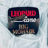 Lot of 2 50g Skeins Rare LEOPARD LANE BIG MOHAIR Yarn Pale Blue