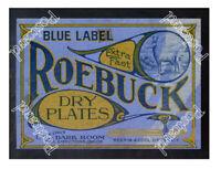 Historic Roebuck Photographic Dry Plates Advertising Postcard
