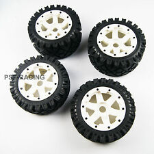Front and Rear All terrain tyre wheel For Rovan HPI Baja 5B SS white P
