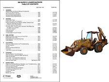 Case 580 SUPER E LOADER Backhoe Tractor Service Repair Manual CD --  580E