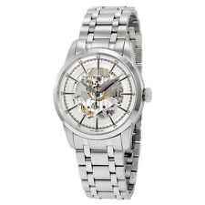 Hamilton Railroad Automatic Silver Skeleton Dial Mens Watch H40655151