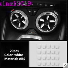 20x white ABS Interior Air Vent Outlet Cover Trim for Chevrolet Camaro 2016-2018