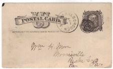 1884 Marlborough NY UX7 Postal Card Ulster County