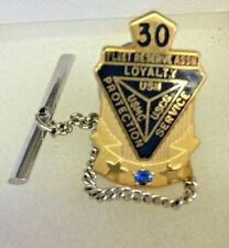 Vintage 30 Year Fleet Reserve Assn. Tie Tack Pin With Sapphire  (A)