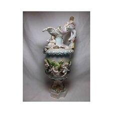 Vtg Porcelain WINE EWER SATYR & CHERUB pitcher Dresden? capodimonte German