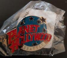 Planet Hollywood Pin / Badge Seattle Classic Light Blue Globe Logo