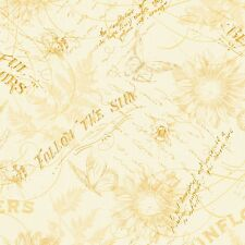 Follow the Sun Cream Toile  By the yard by 44 inches cotton print