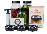 Easy Fermenter Wide Mouth Lid Kit: Simplified Fermenting In Jars Not Crock Pots!