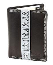 flache Geldbörse Portemonnaie aus glattem Echt Leder Bifold 170503HF Coffee