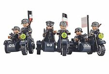 WWII German Soldiers - Lego Compatible - Army Motorbikes - Military Minifigs Gun