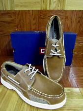 Chaps Men's Riverton Cognac Boat Shoes Size 9.5 M
