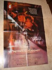 Pennies from Heaven folded movie promo poster 1 sheet Steve Martin