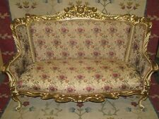 Dramatic French c. 1900 Rococo Sofa, Heavily Gilded - Fabulous Condition