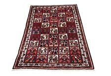 Perser Teppich Orient 170x260 cm 100% Wolle Handgeknüpft rot mehrfarbig