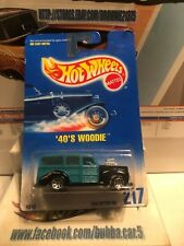 Hot Wheels 40S Woody Blue Card Collector Number 217