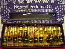 Indian Natural Perfume Oil - Non-Alcoholic: Set of 12 Fragrances