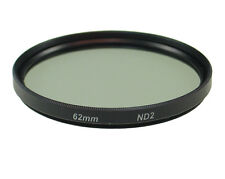 62mm 2X Neutral Density ND2 ND 2 Glass Filter Black NEW