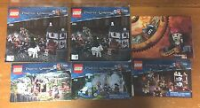 Lot of 5 Lego Pirates Of The Caribbean Instructional Books And Poster