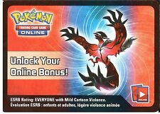 POKEMON: ONLINE CODE CARD FROM THE SPRING 2014 YVELTAL EX TIN