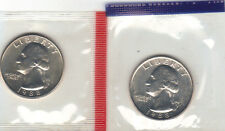 1988 P+D WASHINGTON QUARTER UNCIRCULATED STILL IN MINT CELLO L@@K