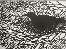 Don Blanding 1948 BIRD in a NEST Art Deco Print Matted