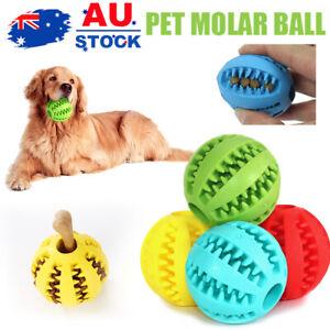 Dog Chew Ball Toy Rubber Dental Clean Teeth Healthy Treat Gum Bite Puppy Pet